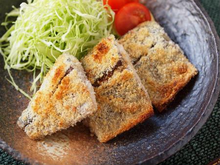 鯖のチーズパン粉焼き13