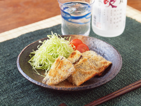 鯖のチーズパン粉焼き07