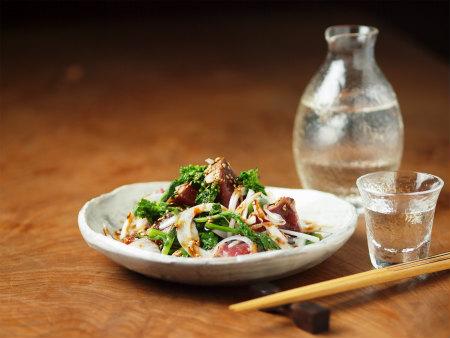 鰹たたきと菜の花のサラダ風47