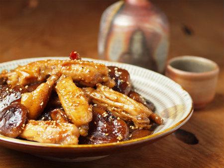 手羽中と椎茸の香味煮22