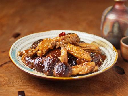 手羽中と椎茸の香味煮14