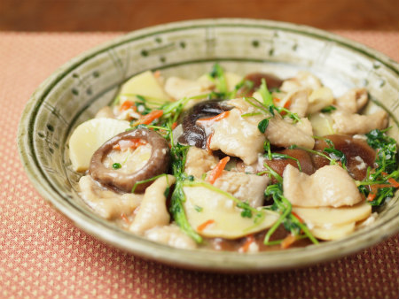 椎茸と筍の塩麹煮26