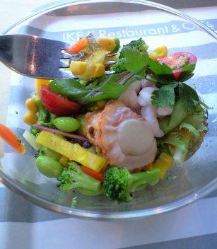 帆立貝と海老のコンソメゼリーサラダ