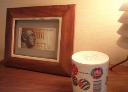 アアルトの肖像の旧紙幣