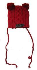 Oobi Baby ケーブルニットハット/ Red Cable Knit Bear Hat詳細・購入ページへ