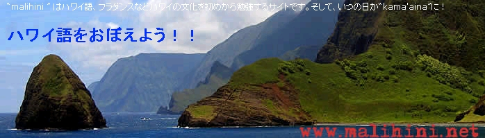 ハワイ語を覚えよう!!のサイト