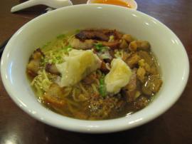 スープをかけて食べる