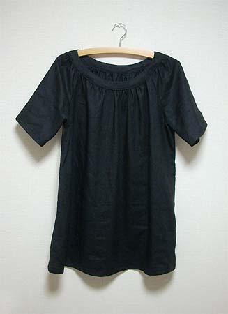 \20080708ブラックリネンシャツ①
