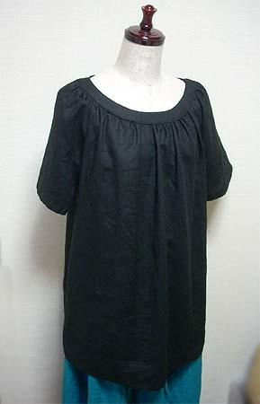 \20080708ブラックリネンシャツ②