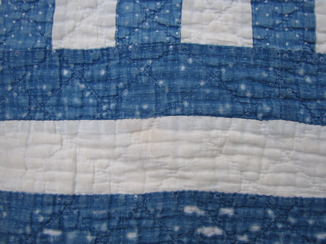 Antique BLUE INDIGO CALICO Cutter QUILT 4