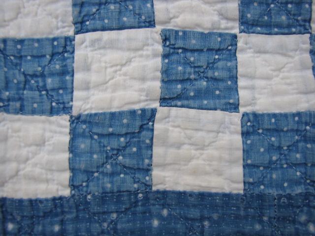 Antique BLUE INDIGO CALICO Cutter QUILT 5