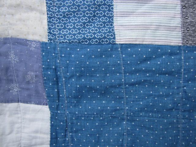 Antique BLUE INDIGO CALICO Cutter QUILT 6