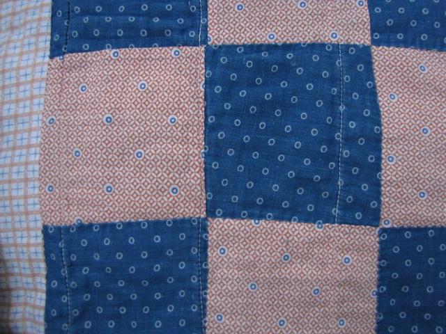 Antique BLUE INDIGO CALICO Cutter QUILT 7