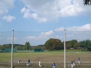 野球を見に行きました