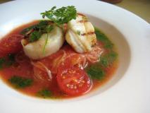 貝柱とトマトの冷製パスタ