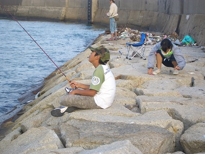 千代崎 釣り1