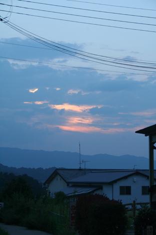 200809奈良飛鳥夕暮れ