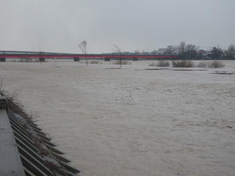 米代川春の増水3