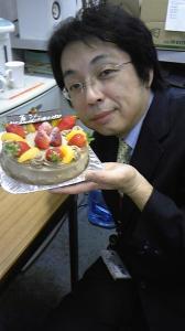 基さんとケーキ