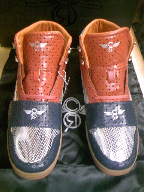 CR8 Cesario-Hi Rust/Navy 4-1z
