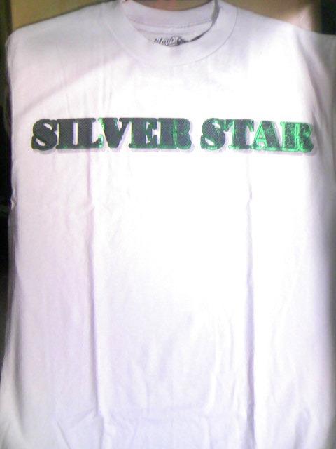 Silver Star Green Backs Tee 3-1z