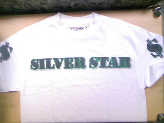 Silver Star Green Backs Tee 3-2