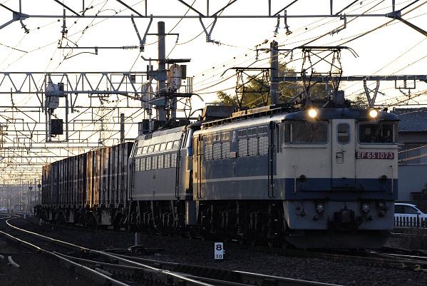 1151レ  EF65-1073+EF66-28