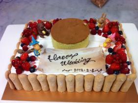 特注ウェディングケーキ
