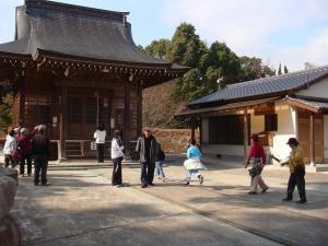 日吉神社にて。