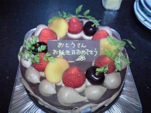 由一誕生日ケーキ