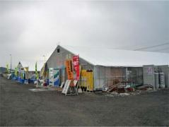 船越漁港のカキ小屋