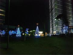 福岡タワーのハートイルミ