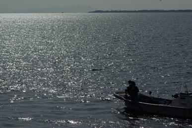 生水の郷・琵琶湖の漁船
