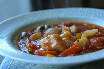 鶏ムネ肉と野菜のトマト煮込み2