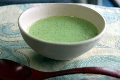 ブロッコリーとカリフラワーのスープ2