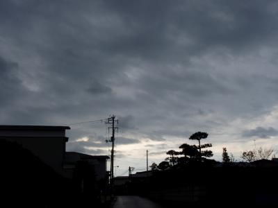 曇り空の・・・
