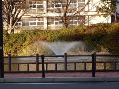 11月の噴水
