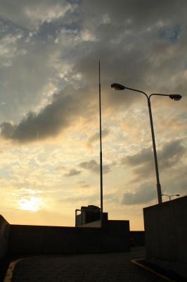 0908 屋上から夕空
