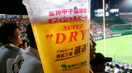 相方、ビール3杯目