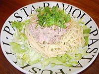 ツナマヨとレタスの和風スパゲティ