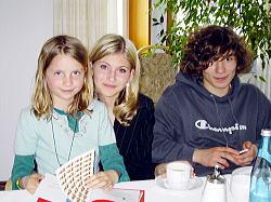 左から、姪っ子クレア、姪っ子リサ、彼のシュテファン