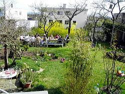 ユールゲン&バーバラ&クレアのお家のお庭