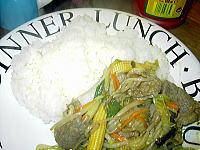 牛肉入り野菜炒め