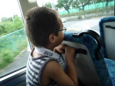 バスに乗って温泉へ