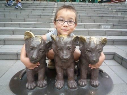 次郎と子ライオン