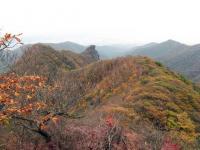 獅子岩までの尾根の紅葉