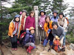 皇海山山頂で