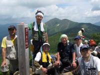 笠ヶ岳山頂で