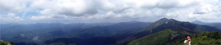 笠ヶ岳山頂からのパノラマです