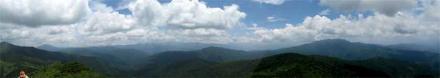 笠ヶ岳山頂からのパノラマ2
